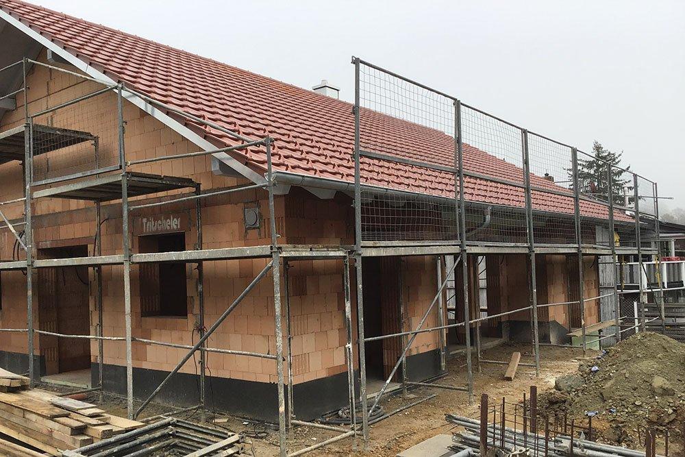 Der Baufortschritt bei unserem Neubau Bungalow